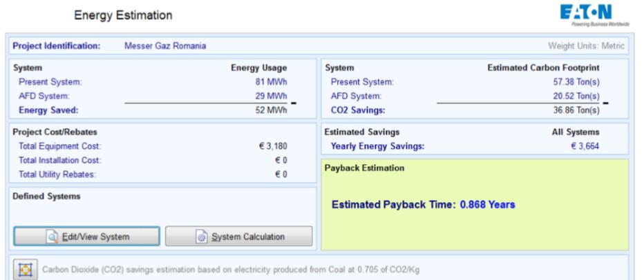 Estimare consum energie