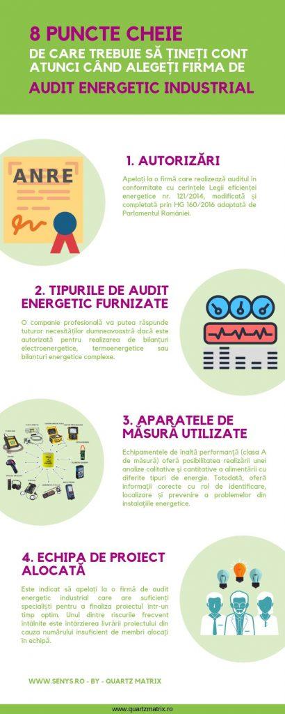 8 Puncte cheie de care trebuie să țineți cont atunci când alegeți firma de audit energetic industrial